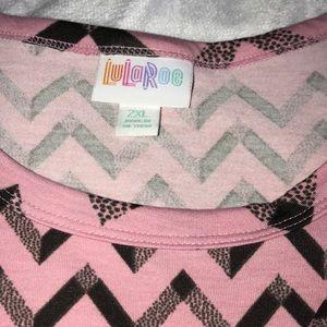 LuLaRoe Dresses - 2X LuLaRoe Marly Pink with black chevron Dress